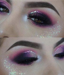 Purple glittermermaid Glitter eyeliner glitter Unicorn Liquid eyeliner Glitter Girl