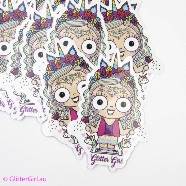 Glitter Girl Sticker