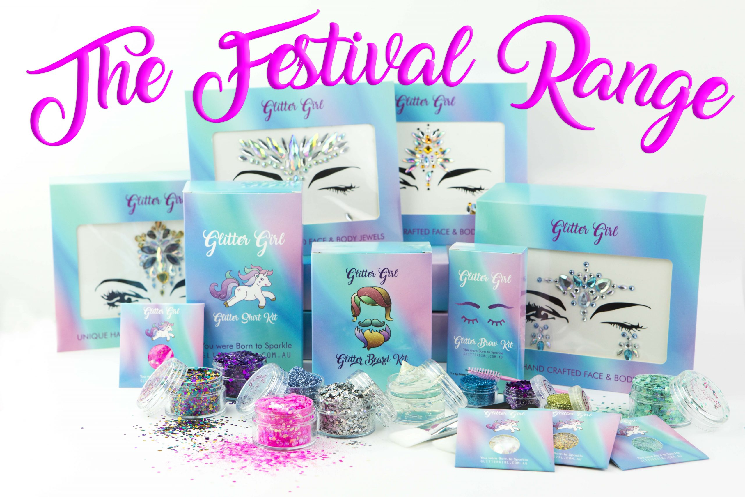 The Exclusive Glitter Girl Festival Range