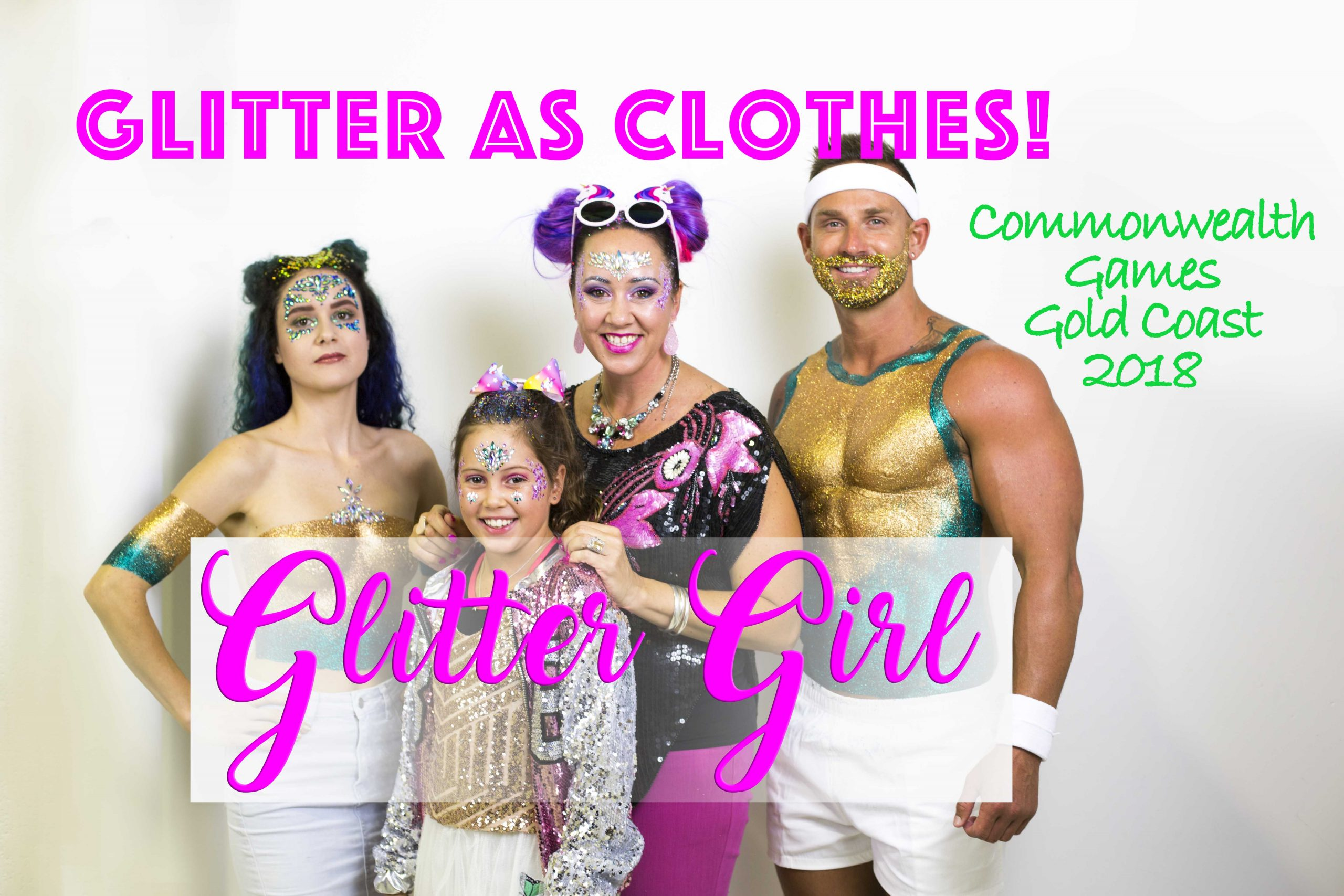 How to Wear Glitter as Clothes! Aussie Glitter Shirts – Commonwealth Games Gold Coast 2018