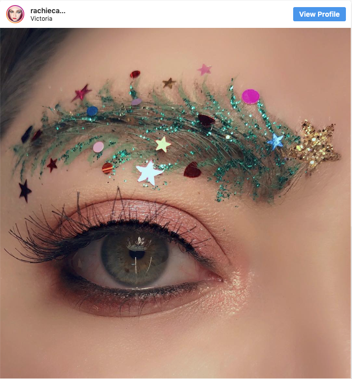 "Be inspired by all things Christmas with ""Christmas Tree Eyebrows"""