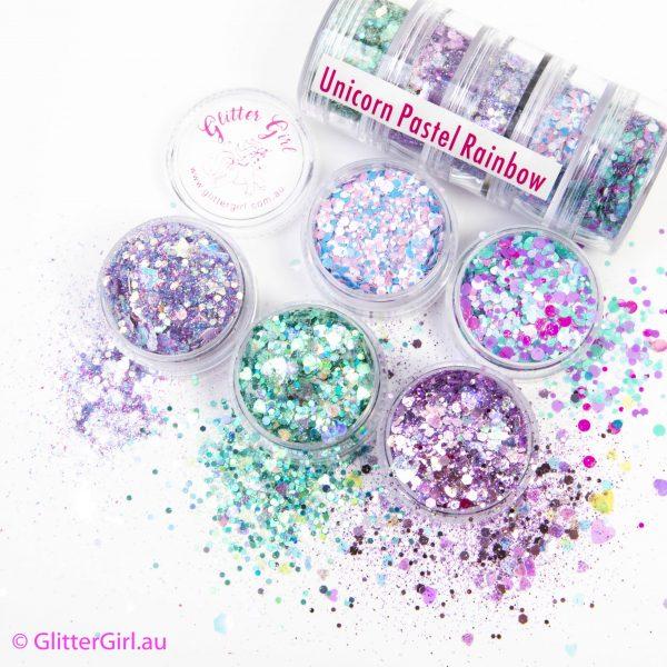 Unicorn Pastel Rainbow Collection Eco Glitter Glitter Girl Loose Glitter