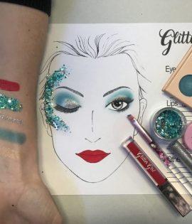 Cheer Makeup Glitter Girl Gold Coast