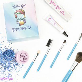 Glitter Beard Kit Butterfly Blue