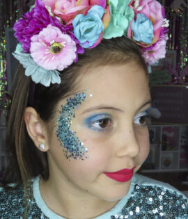 Kilmore Arctics Cheerleading makeup