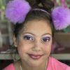 Purple Glitter Look