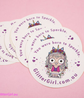Large Round GG Sticker