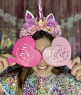 Glitter girl Heart Makeup Mirror
